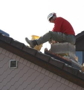 RA auf dem Hausdach